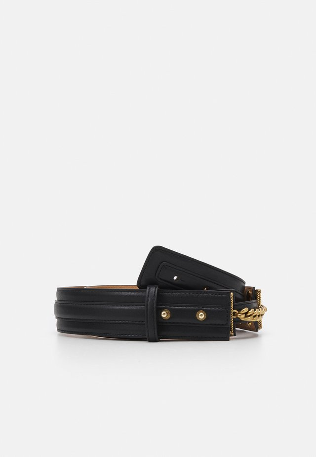 WOMEN'S BELT LOGO CHAIN - Waist belt - nero