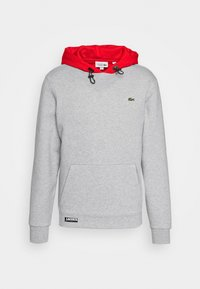 Lacoste Sport - COLOURED HOOD - Sweatshirt - silver chine/gladiolus - 4