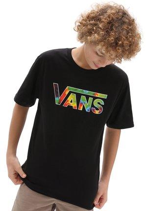 BY VANS CLASSIC LOGO FILL BOYS - T-shirt print - black/spiral tie dye