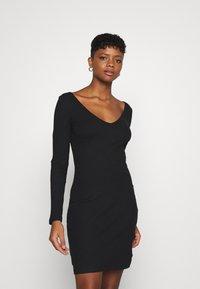 Even&Odd - Jersey dress - black - 0