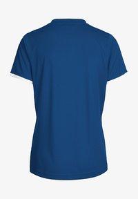 Hummel - CORE SS - Print T-shirt - true blue pr - 1