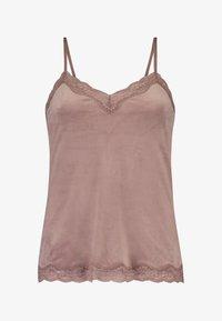 Hunkemöller - CAMI VELOURS SPITZE - Pyjama top - pink - 4
