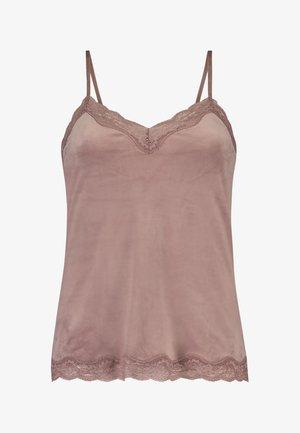 CAMI VELOURS SPITZE - Pyjama top - pink