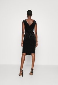 Closet - WRAP OVER DRESS - Shift dress - black - 2