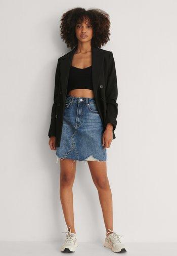 Mini skirt - mid blue