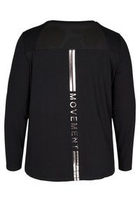 Active by Zizzi - MIT PRINTDETAILS - Long sleeved top - black - 5