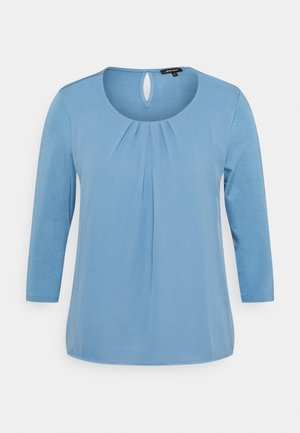 PATCHED  - Blouse - dusty blue