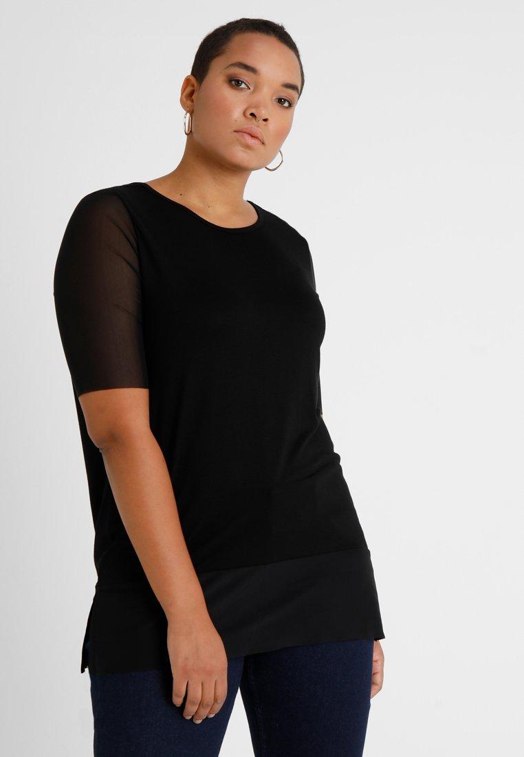 ONLY Carmakoma - CARSISSEL - T-shirt imprimé - black