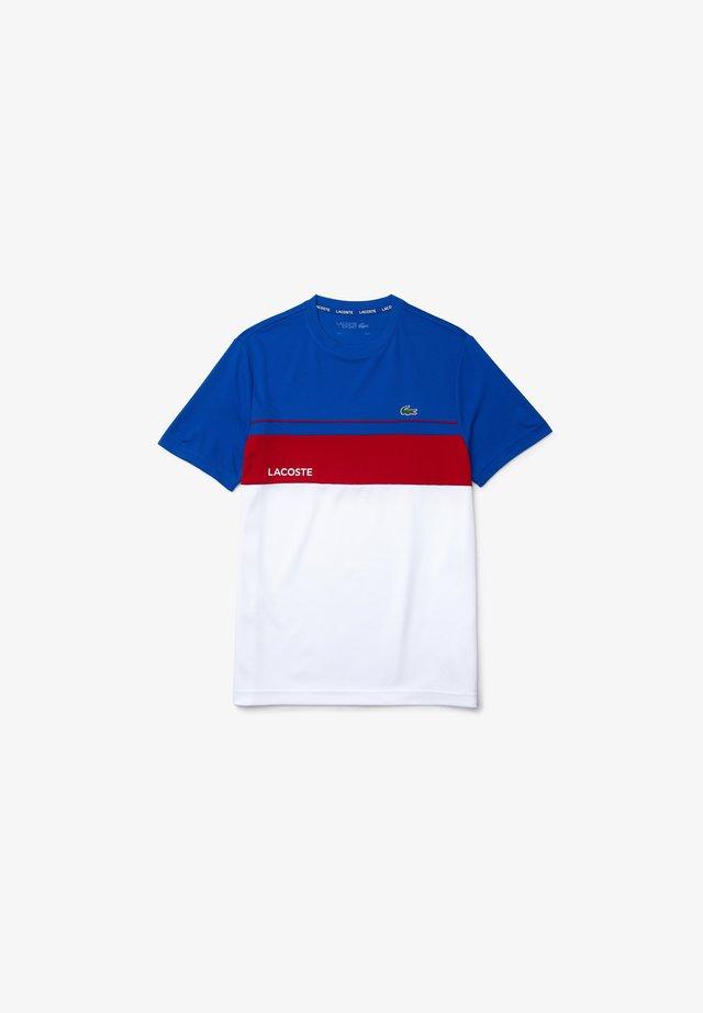 TH9561 - T-shirt imprimé - bleu blanc rouge
