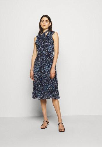 PRINTED GEORGETTE DRESS - Day dress - navy/blue
