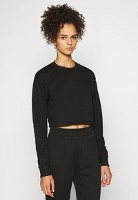Missguided Tall - CROP JOGGER COORD set - Sweatshirt - black - 2