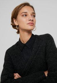 Selected Femme - SLFLANNA CARDIGAN - Kardigan - dark grey melange - 5
