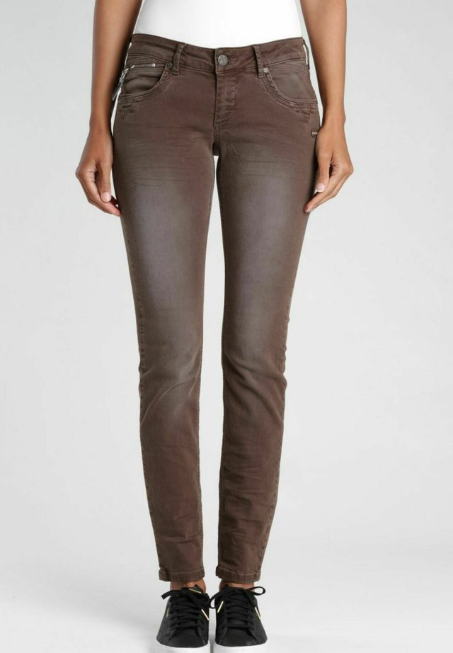 NIKITA SKINNY FIT DARK CHOCOLATE  - Jeans Skinny Fit - dark chocolate old