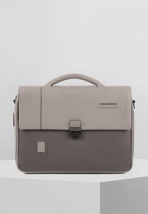 PIQUADRO AKRON AKTENTASCHE LEDER 42 CM LAPTOPFACH - Briefcase - grey