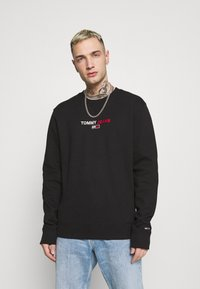 Tommy Jeans - LINEAR LOGO CREW - Sweatshirt - black - 0