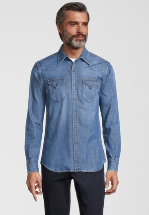 Shirt - medium blue