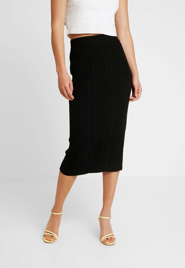 ELLIE SKIRT - Jupe crayon - black