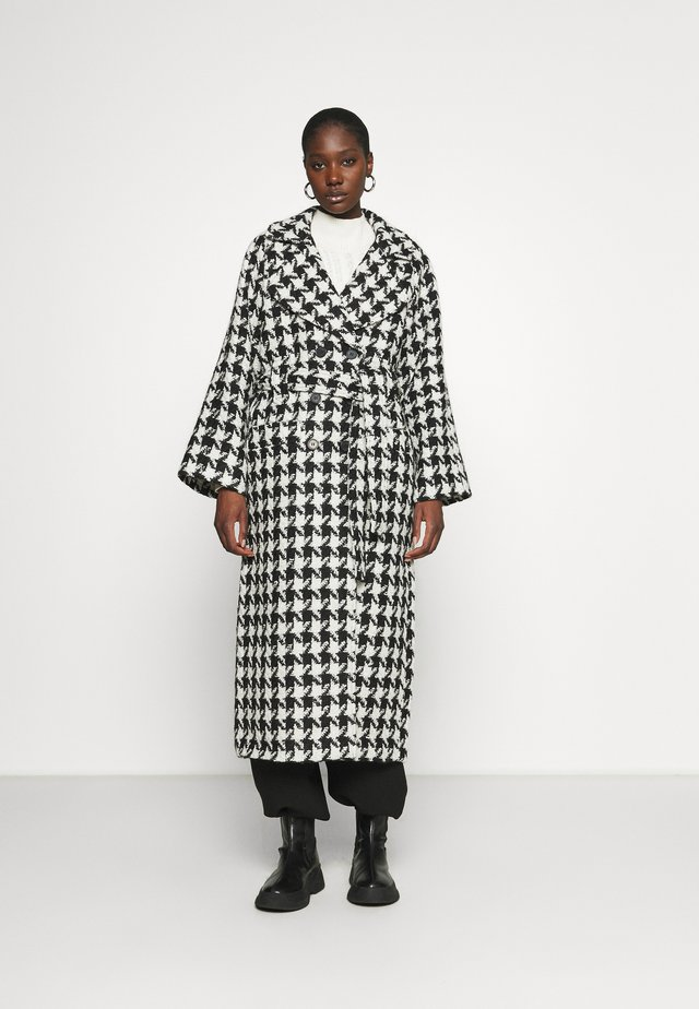 UNNAGZ COAT - Cappotto classico - black/white