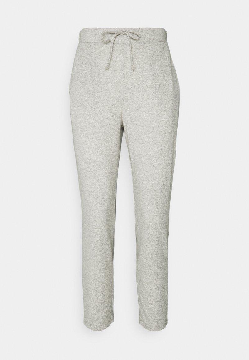 VILA PETITE - VILUNE PANTS - Trousers - super light grey melange
