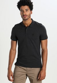 Selected Homme - SLHARO EMBROIDERY - Polo shirt - dark grey melange - 0