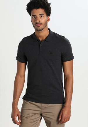 SHDARO EMBROIDERY - Polo - dark grey melange