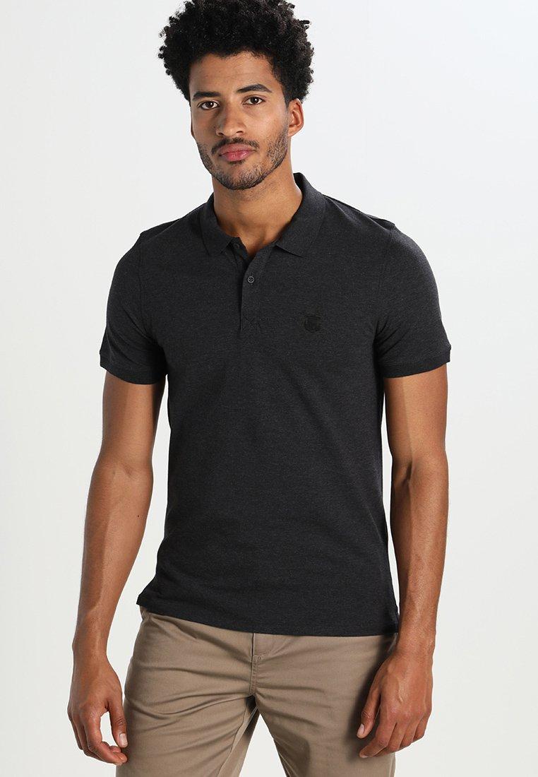 Selected Homme - SLHARO EMBROIDERY - Polo shirt - dark grey melange