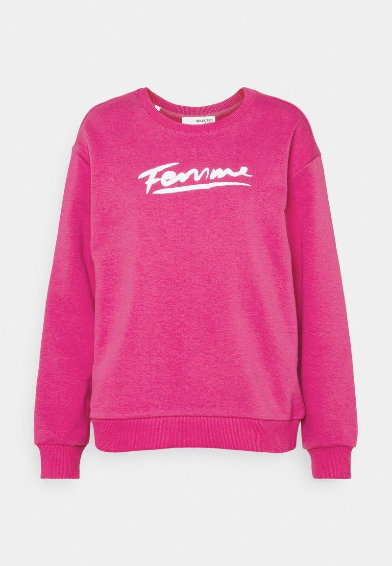 Selected Femme - SLFARTISTA CAMILLE  - Sweatshirt - very berry/white
