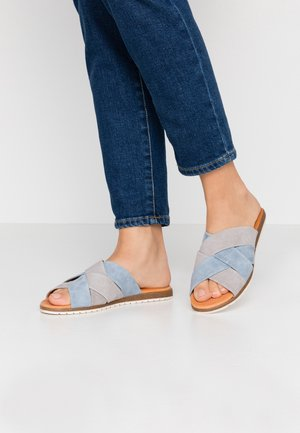 BERTA - Mules - lightgrey/light blue
