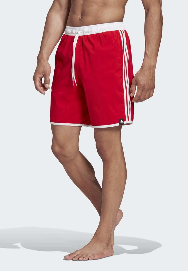 3-STRIPES CLX SWIM SHORTS - Badeshorts - red