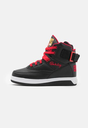 High-top trainers - black/chinese red/orange pop