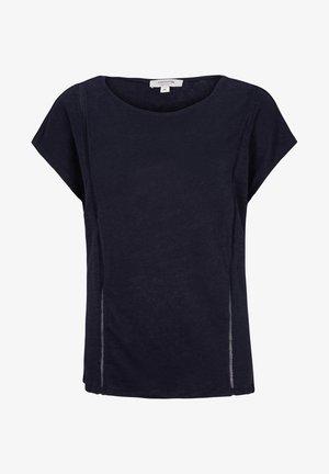 MIT NETZ-EINSATZ - Print T-shirt - marine