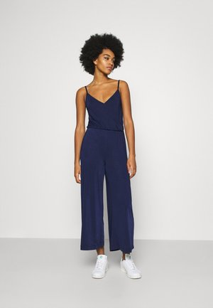 BASIC - STRAPPY V NECK JUMPSUIT - Jumpsuit - dark blue