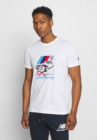 Puma - BMW VINTAGE TEE - Print T-shirt - white - 0