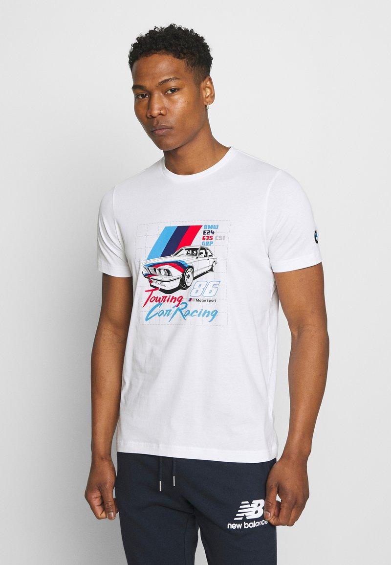 Puma - BMW VINTAGE TEE - Print T-shirt - white