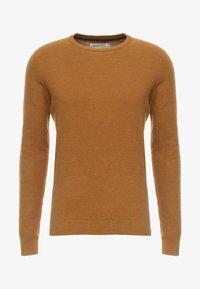 Pullover - mottled dark yellow