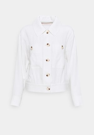 JACKET CROP DOBBY - Summer jacket - off white