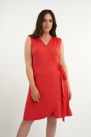 JURK JURK MET OVERSLAG - Cocktail dress / Party dress - red