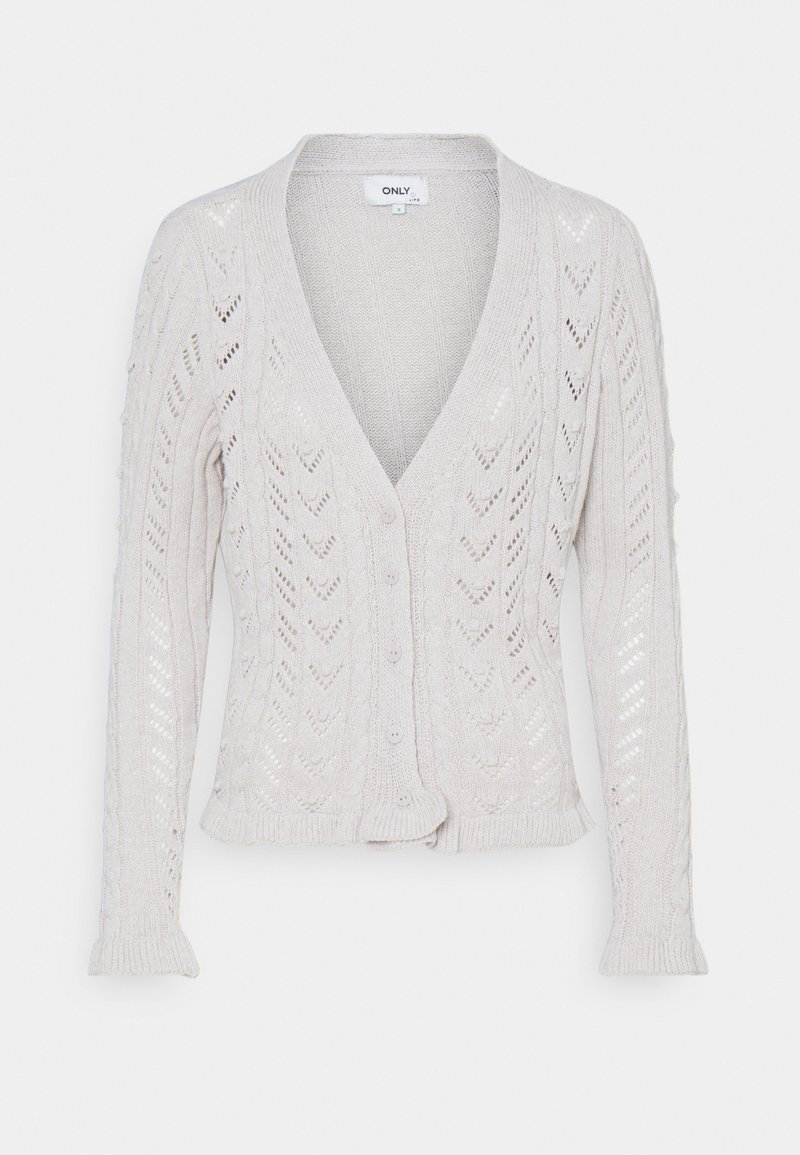 ONLY - ONLREESE LIFE BUBBLE - Cardigan - pumice stone