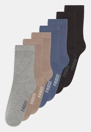 7 PACK UNISEX  - Socks - tan/black/grey