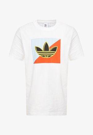 DIAGONAL LOGO SHORT SLEEVE GRAPHIC TEE - Print T-shirt - white