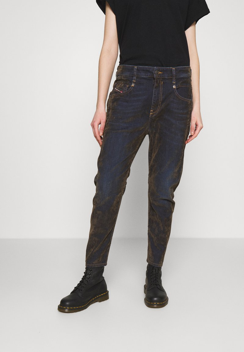 Diesel - FAYZA - Džíny Relaxed Fit - military green