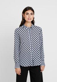 Opus - FASTINE DIAGONAL  - Button-down blouse - just blue - 0
