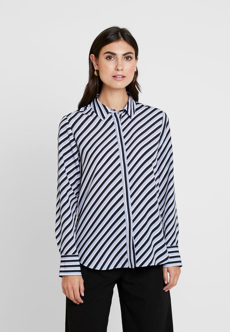 Opus - FASTINE DIAGONAL  - Button-down blouse - just blue