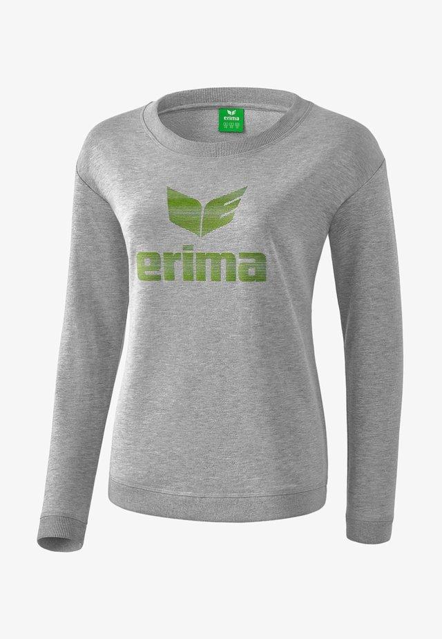 ESSENTIAL SWEATSHIRT DAMEN - Sweatshirt - light gray/lime