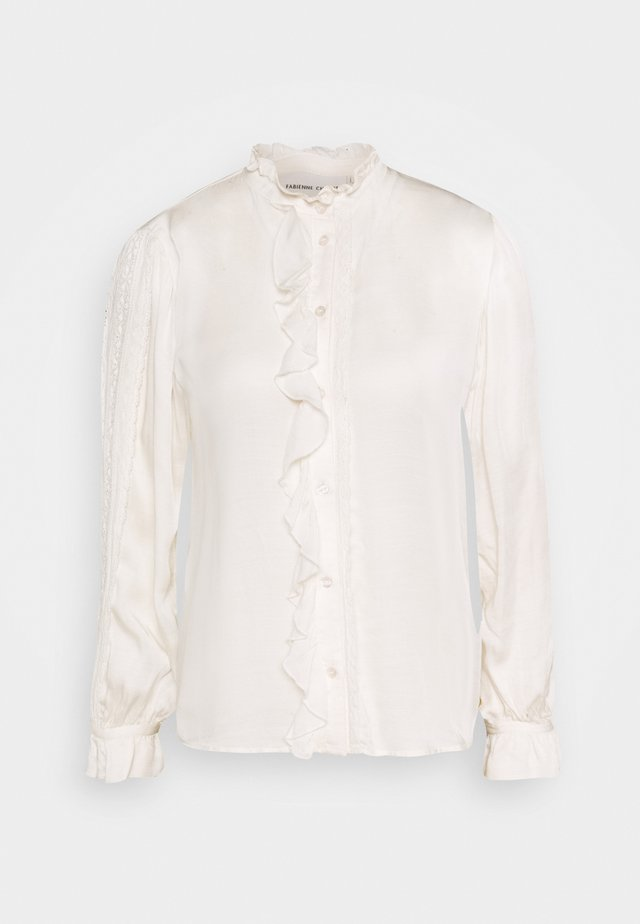 MIMI BLOUSE - Button-down blouse - cream white