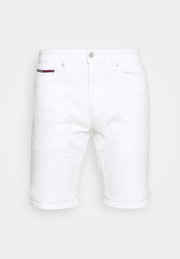 SCANTON SLIM - Denim shorts - optic white