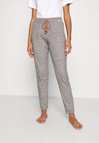 Skiny - DAMEN HOSE LANG SUNDOWN DESERT SLEEP - Pyjama bottoms - vulcangrey melange - 0