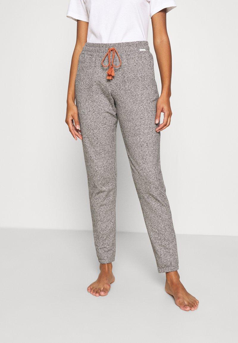 Skiny - DAMEN HOSE LANG SUNDOWN DESERT SLEEP - Pyjama bottoms - vulcangrey melange