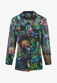 Nicowa - GIUNGLIO - Button-down blouse - schwarz - 0