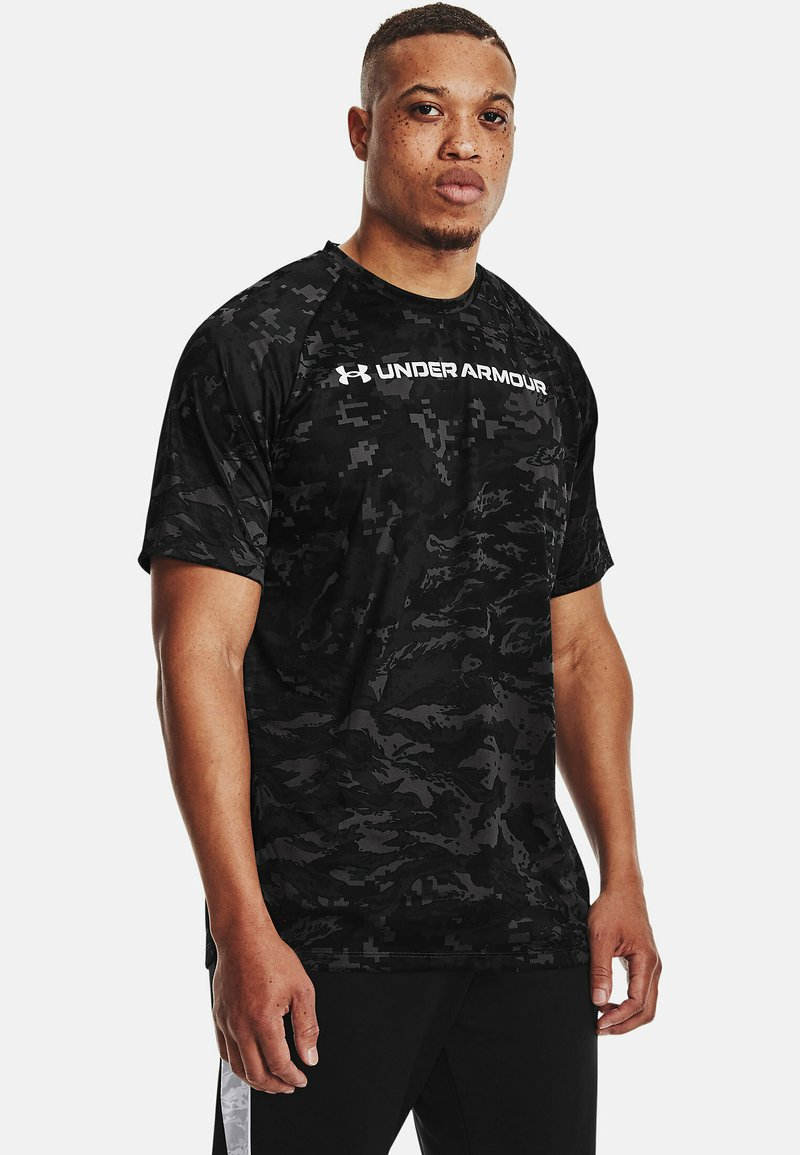 Under Armour - Print T-shirt - pitch gray